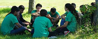 Kids having a dialogue