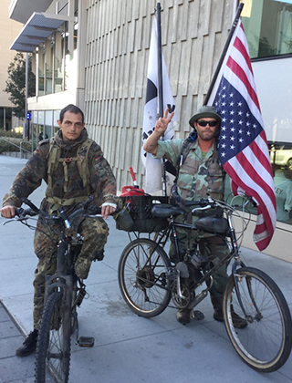 Vets on bikes