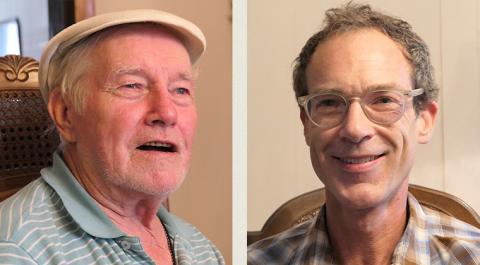 Jim Schultz and volunteer Mark Hall