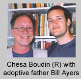 Chesa Boudin (R) with adoptive father Bill Ayers